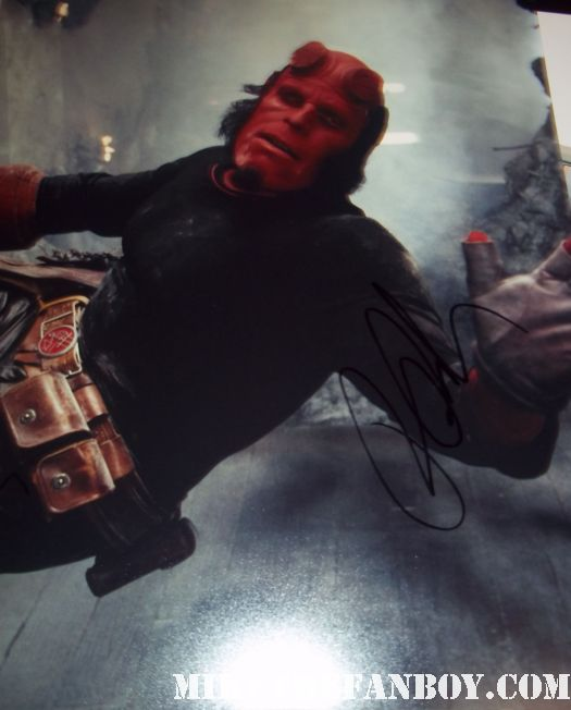 ron perlman signed autograph rare promo hellboy photo sons of anarchy rare alien resurection beauty and the beast dvd sexy promo drive movie premiere