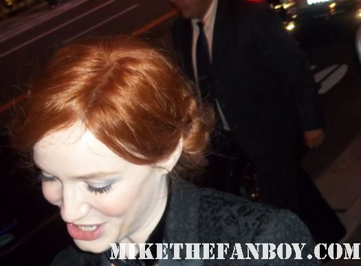 man men star Christina hendricks signs autographs for fans hot sexy rare life as we know it redhead sexy hot emmy rare promo joan sexy photo shoot