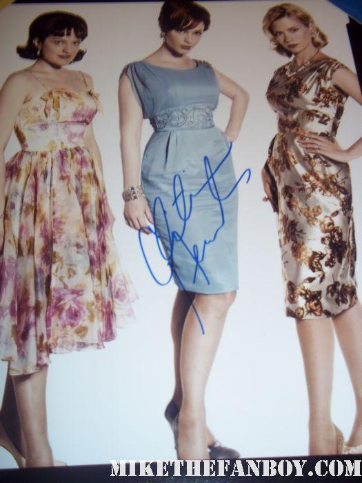 christina hendricks signed autograph man men women cast photo joan elizabeth moss january jones hot sexy rare