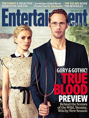 true blood american gothic entertainment weekly magazine cover anna paquin alexander skarsgard sookie stackhouse eric northman