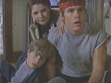 The goonies rare press promo still with josh brolin sean astin corey feldman muscle shirt mikey brand hot sexy rare 1980s richard donner promo headband