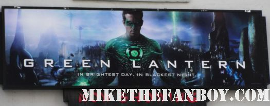 green lantern world movie premiere sign poster ryan reynolds chinese theatre rare sexy hot promo poster sexy