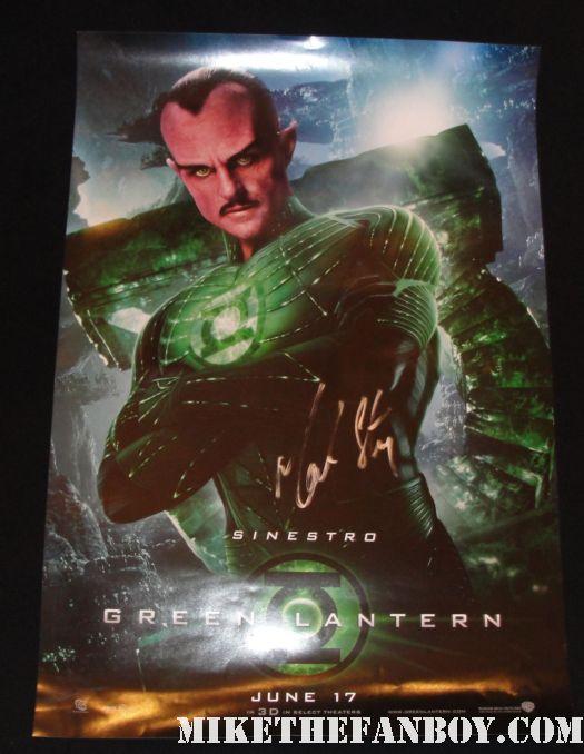 mark strong hand signed autograph sinestro rare promo mini poster green lantern hot sexy rare promo