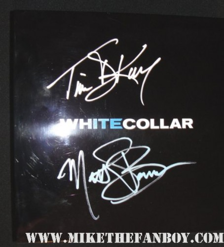 time dekay and matt bomber hand signed autograph promo white collar game board set usa