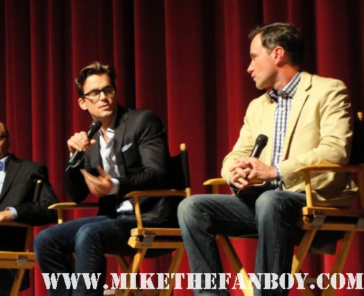 the opening screen for the emmy screening series of White Collar with Matt Bomer and Tim dekay with willie willie garson