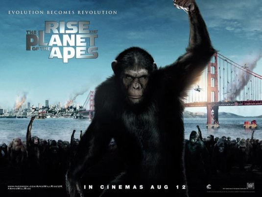 rise of the planet of the apes rare uk quad move poster promo james franco apes remake hot one sheet movie poster promo