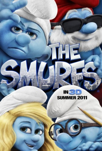The smurfs rare one sheet movie poster french in 3d smurfette katy perry rare promo hot sexy alan cumming peyo