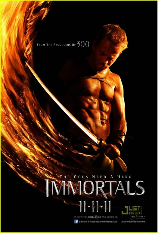 stephen dorff shirtless and hot in the immortals rare one sheet movie poster promo christopher nolan rare promo