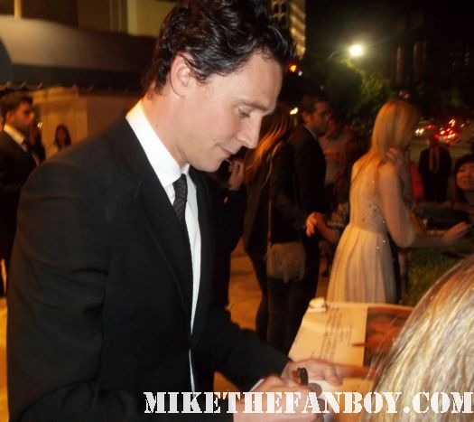 tom hiddleston from thor loki signing autographs at the super 8 world premiere in westwood california rare photo shoot promo signature cast rare sexy hot photo shoot rare promo