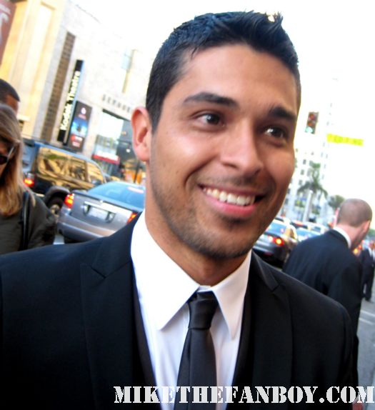 Wilmer Valderrama sexy hot rare signed autograph larr crowne world movie premiere suit tie that 70's show shirtless gym muscle workout fezz
