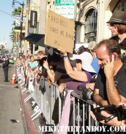 red bull owes me $100 sign a fan made at the larry crowne world movie premiere autograph dealer scum asshole rare