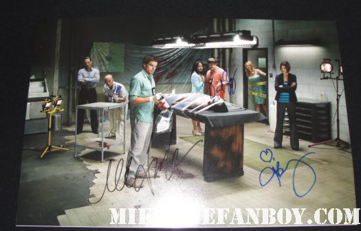 Dexter seson 3 cast photo signed autograph michael c hall julie benz david zayas jennifer carpenter rare lauren velez james remar hot sexy promo photo shoot