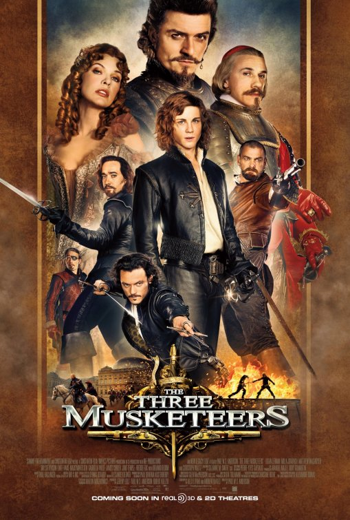 Milla Jovovich Three Musketeers in 3d rare promo one sheet movie poster hot sexy rare Milla Jovovich retro style movie poster promo