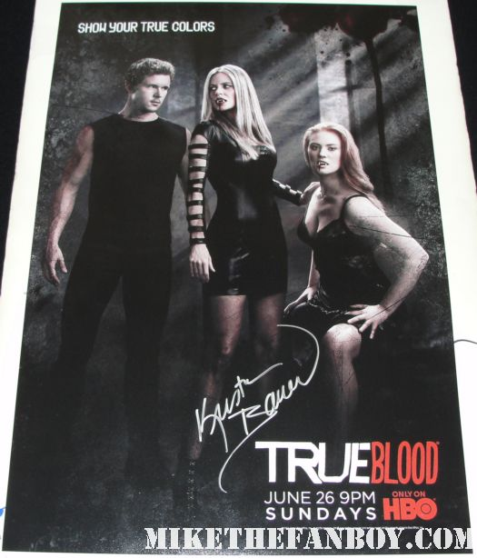 true blood season 4 on location signed autograph promo kristen bauer signed autograph true blood season 4 promo mini poster hot sexy pam vampire rare