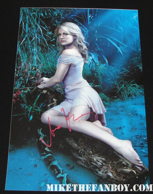 anna paquin signed autograph season 3 promo individual promo mini poster hot sexy rare almost famous sookie stackhouse
