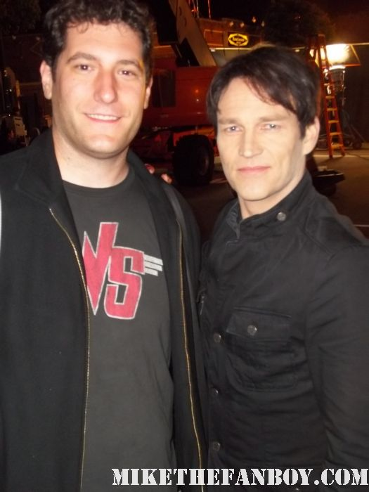stephen moyer on the set of true blood season 4 signed autograph fan photo mike the fanboy rare promo hot sexy vampire rare signed autograph bill compton