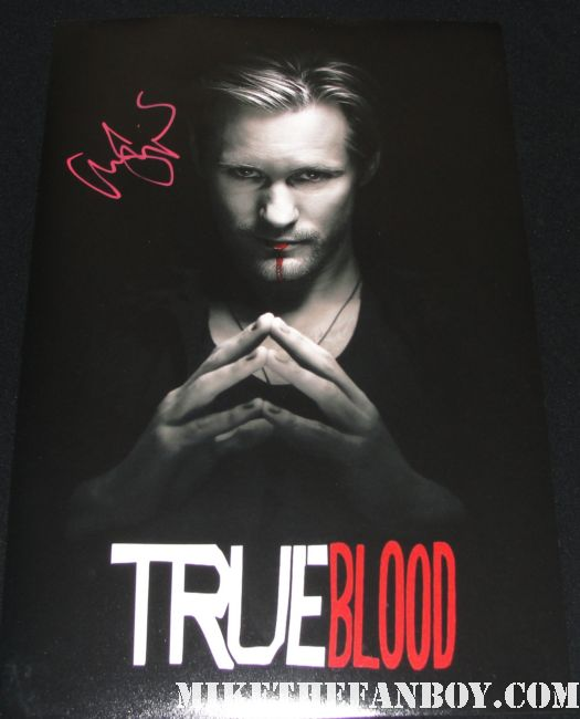 true blood season 2 alexander skarsgard eric northman signed autograph promo poster rare individual hot sexy vampire rare straw dogs