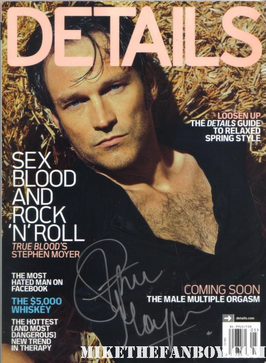 stephen moyer bill compton signed autograph details magazine on location set true blood season 4 rare signed autograph promo magazine cover sexy hot