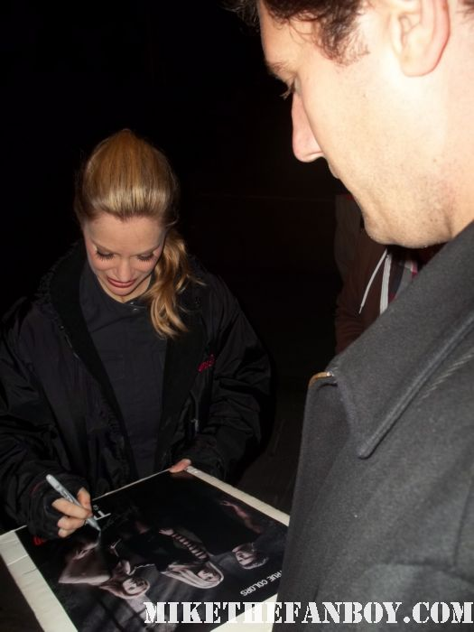 kristen bauer signing autographs for fans on the set of true blood season 4 rare season 4 true blood promo poster hot sexy pam vampire rare