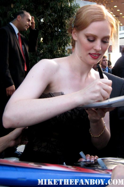 deborah ann woll jessica signing autographs at the true blood season 4 world premiere hot sexy rare promo poster mike the fanboy rare sexy vampire
