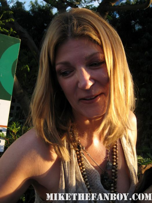 Annie Fitzgerald signing autographs at the true blood season 4 world premiere hot sexy rare promo poster mike the fanboy rare sexy vampire