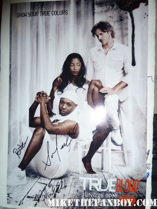 true blood season 4 true colors promo poster signed autograph rutina wesley nelsan ellis sam trammell