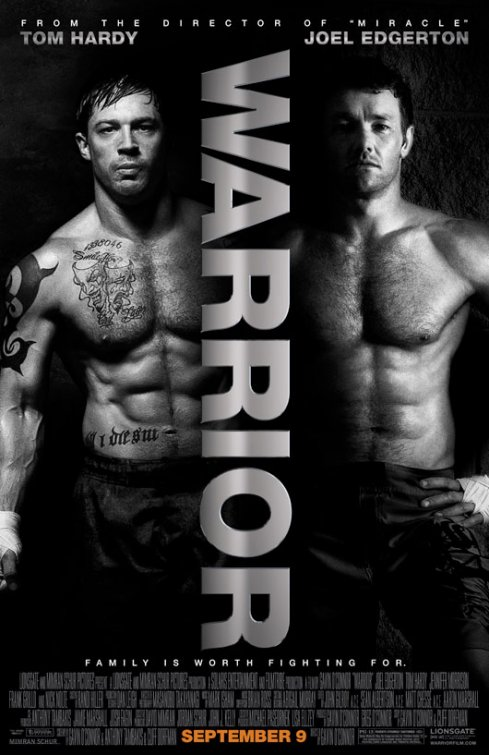 The Warrior rare one sheet movie poster Tom Hardy shirtless sexy joel edgerton shirtless boxing rare promo hot fine rare muscle workout