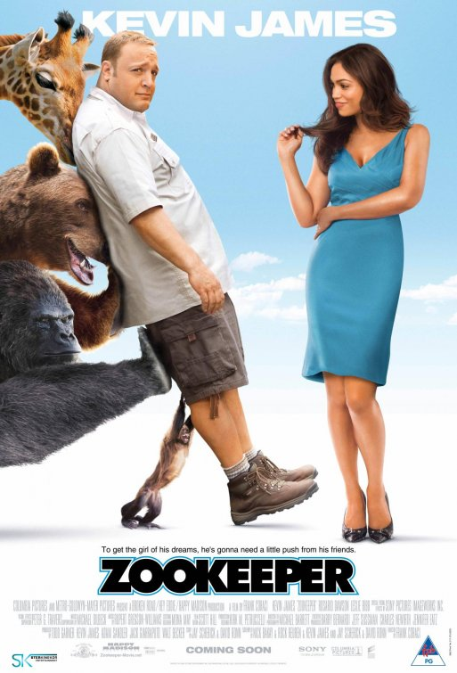zookeeper rare promo one sheet movie poster kevin james promo one sheet rosario dawson