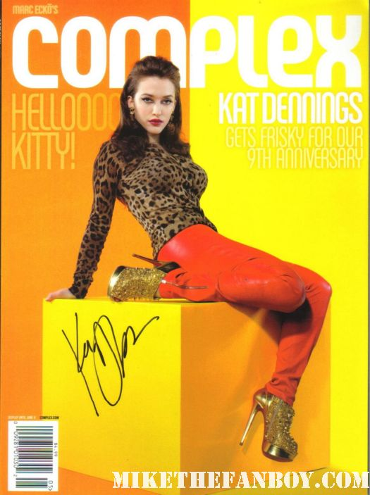 kat dennings signed autograph complex magazine rare hot sexy mike the fanboy with kat dennings and beth behrs the cast of 2 broke girls signed autograph 2 broke girls signed autograph poster postcard from kat dennings beth behrs two broke girls autograph signing rare hot sexy promo san diego comic con 2011 sdcc 2011 signed autograph
