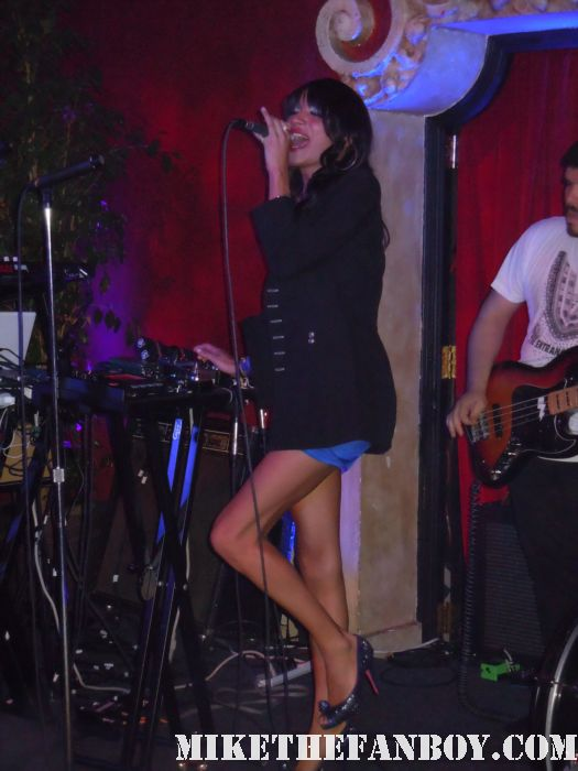Jessica 6 performing a live concert at Bardot in los angeles ca with lead singer Nomi Ruiz live concert photos rare promo hot sexy Morgan Wiley, and Andrew Raposo