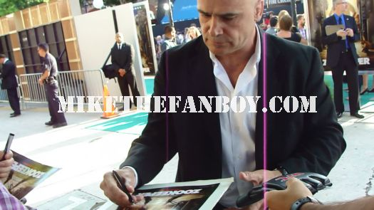 bas rutten signs autographs for fans at the zookeeper premiere in westwood ca rare promo ufc fighter hot shirtless promo signed