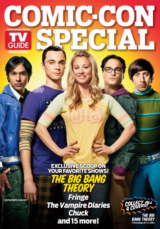 the big bang theory comic con special edition magazine cover tv guide rare hot kaley cuoco johnny galecki kunal nayyar simon helberg jim parsons
