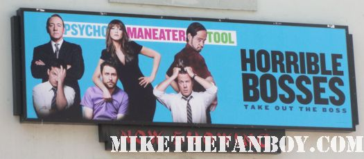 horrible bosses rare move world premiere sign billboard hot sexy jennifer aniston signed autograph promo rare