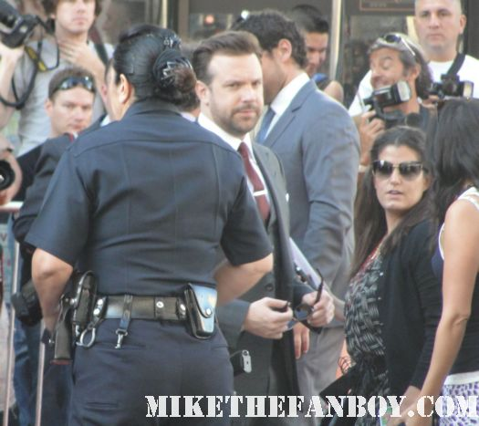 Jason Sudeikis arriving to the red carpet of horrible bosses with jennifer aniston jason bateman and more signed autographs hot sexy