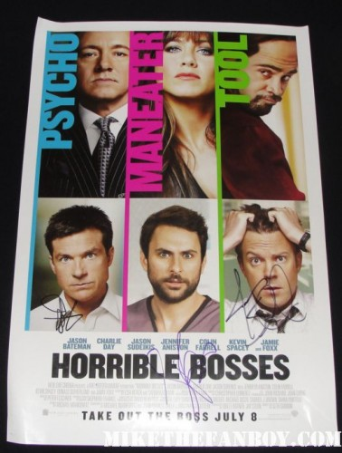 horrible bosses rare promo mini poster jason bateman jamie foxx Jason Sudeikis world movie premiere