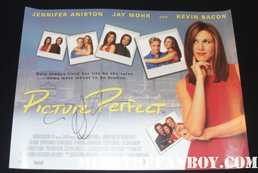 jennifer aniston signing autographs at the horrible bosses world premire movie hot sexy rare tatoo hot muscle  friends picture perfect office space the switch jennifer aniston signed autograph picture perfect original uk quad mini movie poster rare signed autograph friends
