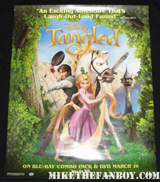 zachary levi signed autograph tangled movie poster giveaway contest rare promo chuck hot rare flynn ryder