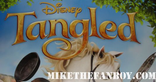 zachary levi signed autograph tangled movie poster giveaway contest rare promo chuck hot rare