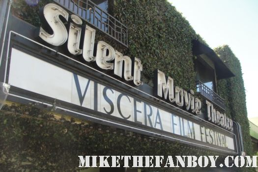 The Viscera Film Festival marquee at the silent movie theatre in los angeles rare promo women horror filmmakers rare