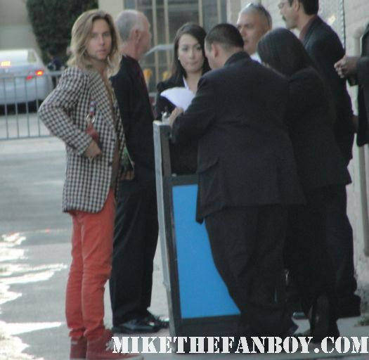 random dude in hollywood with whitesnake hair and maroon pants at a talk show taping in hollywood