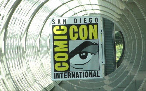 The san diego comic con 2011 logo in hall h sdcc 2011 rare promo