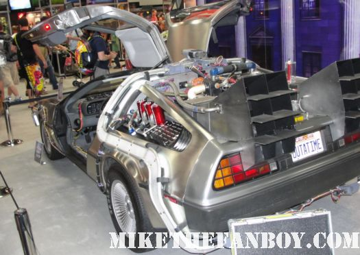 San diego comic con 2011 the delorian from Back to the future prop rare comic con hot rare michael j fox