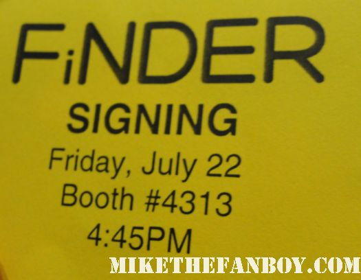 san diego comic con 2011 sdcc 2011 signed autograph the finder rare promo ticket autograph signing bones