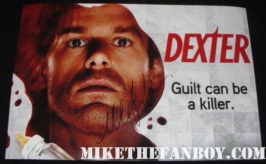 michael c hall julie benz cs lee david zayas signed autograph dexter cast photo poster