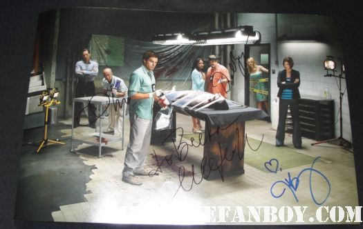 michael c hall julie benz cs lee david zayas signed autograph dexter cast photo poster