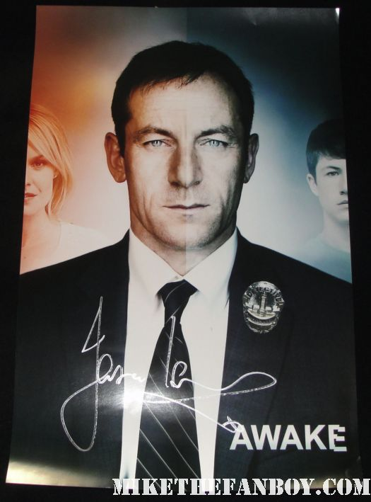 jason isaacs signed autograph rare awake promo mini poster rare fox booth autograph signing harry potter star