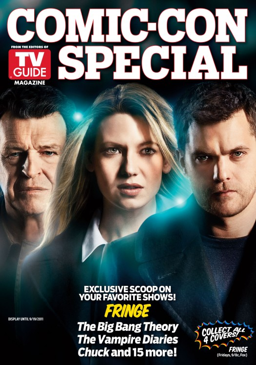 fringe comic con special edition magazine cover tv guide rare hot joshua jackson anna torv