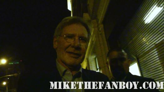 harrison ford signing autographs at the Premiere party red carpet at the cowboys and aliens world movie premiere san diego ca comic con 2011
