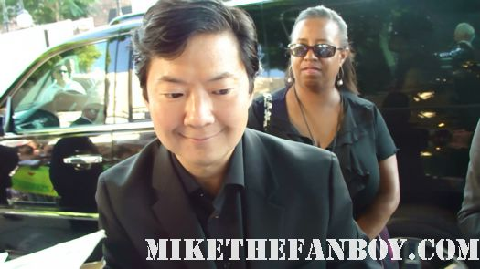 ken jeong signing autographs for fans at the zookeeper world movie premiere in Westwood ca community hangover PArt 2 mr. chow rare signed autograph promo