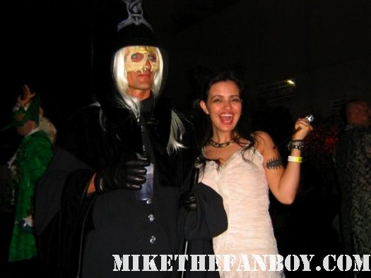 man dressed as Lucious Malfoy 14th Annual Labyrinth of Jareth Masquerade the novel strumpet dressed up in dress and corset